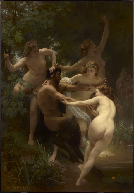 Nymphs and Satyr -  William-Adolphe Bouguereau, French, 1825–1905
